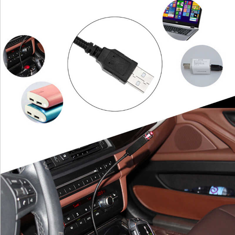 2 pièces USB lampe décorative LED voiture toit étoile veilleuse projecteur réglable multiples effets d'éclairage atmosphère galaxie lampe