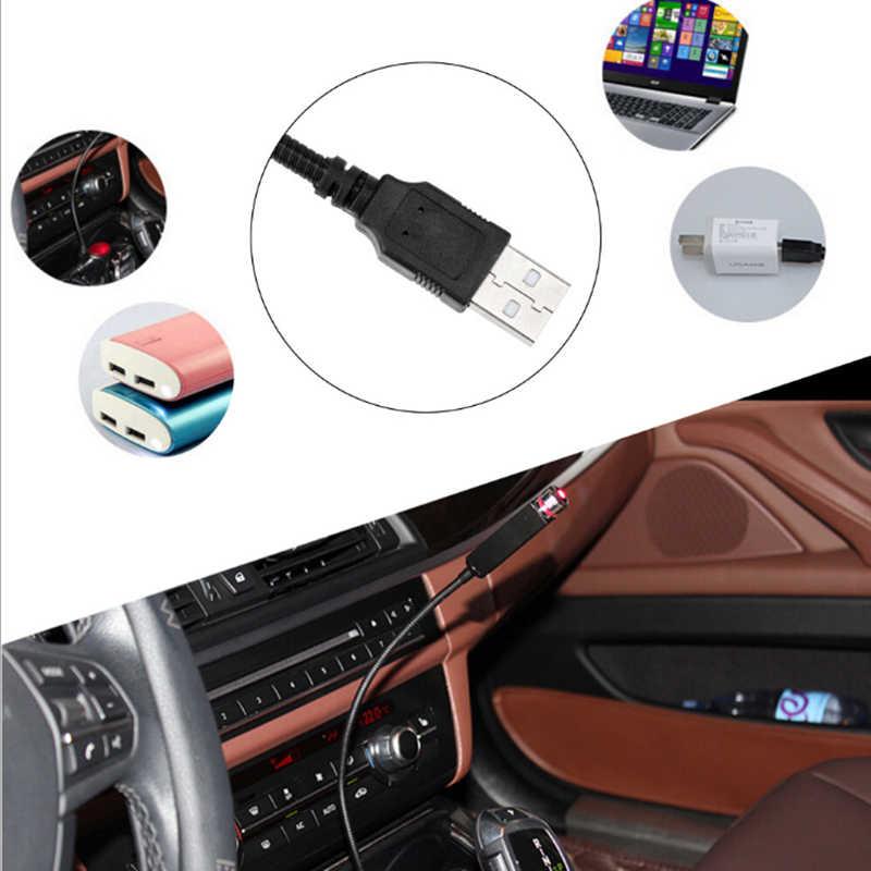 Bộ 2 Đèn LED Xe Hơi Ô Tô Mái Ngôi Sao Đêm Chiếu Bầu Không Khí Galaxy Đèn USB Đèn Trang Trí Có Thể Điều Chỉnh Nhiều Hiệu Ứng Ánh Sáng