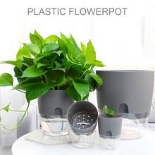 Flower-Pot Watering-Planter Garden-Decor Handmade Round Home with Dropship 2-Layer