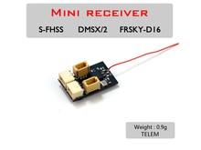 AEORC RX14X سلسلة صغيرة مايكرو RX 4CH استقبال المتكاملة 1S 5A نحى ESC مع موصل TELEM 1.00pin
