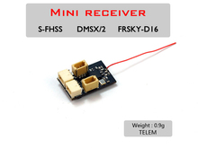 AEORC RX14X Series Mini Micro RX 4CHตัวรับสัญญาณ 1S 5A Brushed ESC TELEM 1.00pin CONNECTOR
