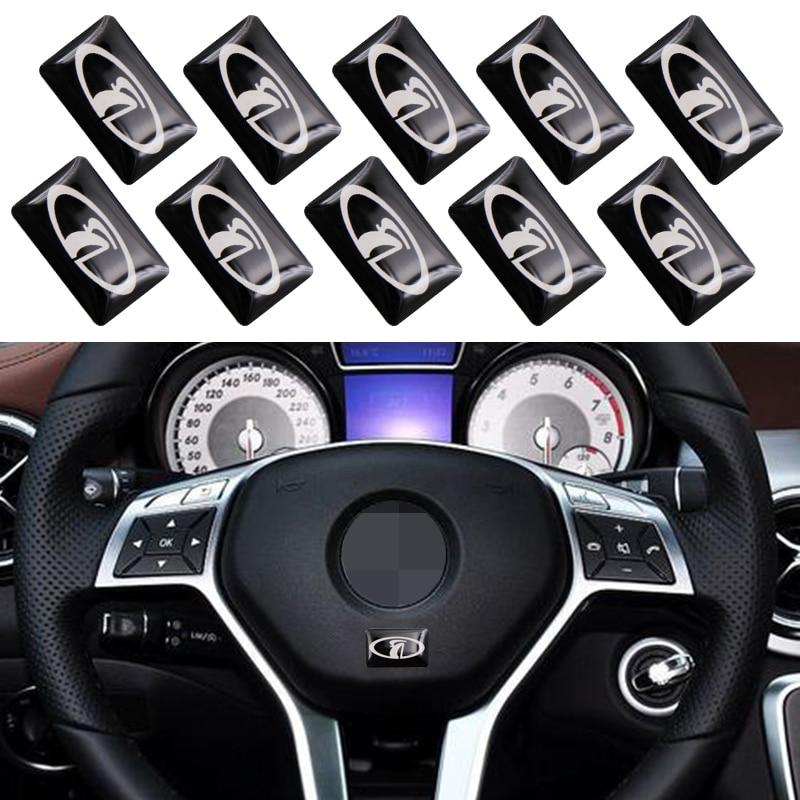 10Pc Car Interior Sticker Car Steering Wheel Small Sticker For Lada Niva Kalina Priora Granta Largus Vaz Samara 2110 Car Styling
