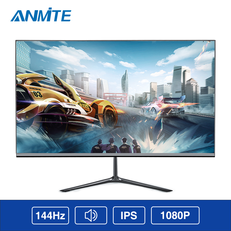 Anmite 24 Inch IPS 144HZ FHD 1920*1080 Slim Ps4 LCD Computer Game Monitor Athlete Chicken Ips Screen image
