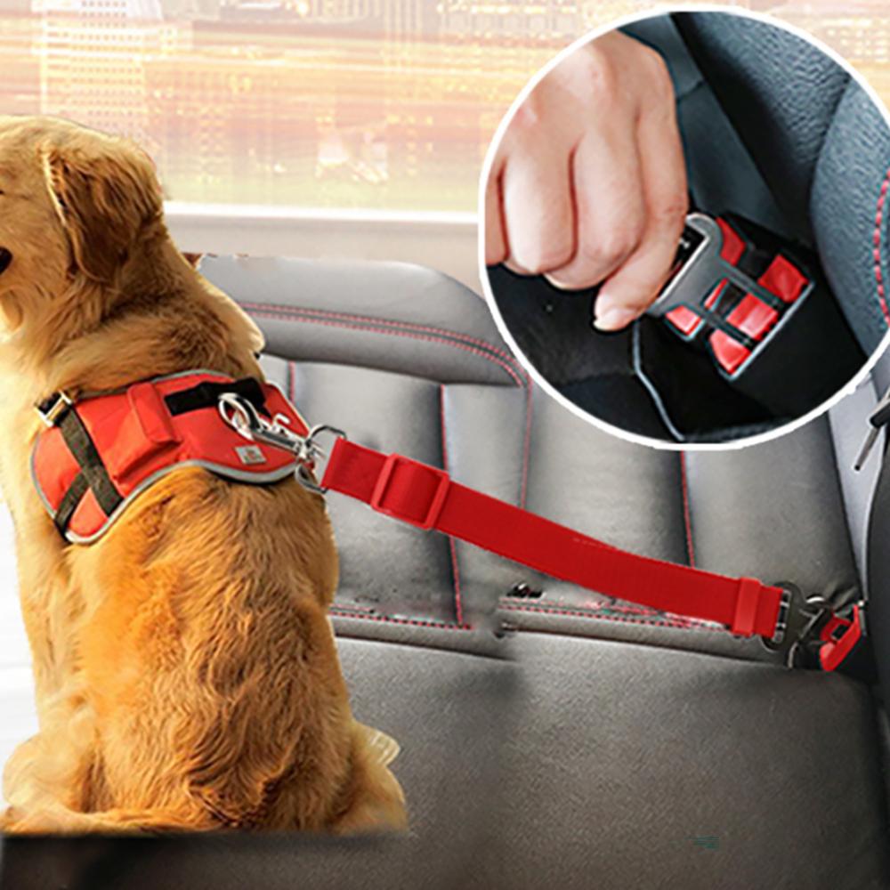 Adjustable Dog Cat Car Safety Belt Pet Vehicle Seat Belt Leash For Dogs Travel Traction Collar