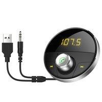 Bluetooth AUX Car Kit Empfänger Auto Hände Freies Adapter für Autos mit 3 5mm Jack Freisprechanlage Wireless FM Transmitter|Bluetooth-Kfz-Freisprechanlagen|Kraftfahrzeuge und Motorräder -