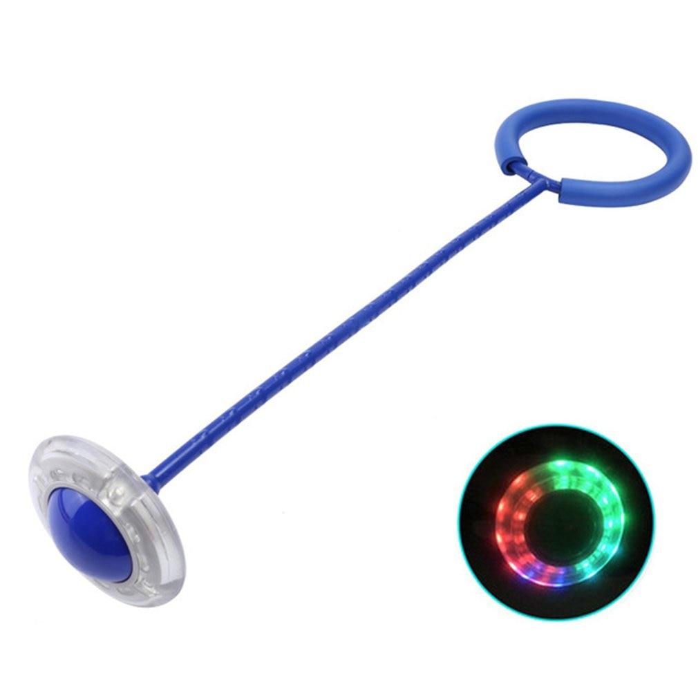 Jump Ball Children's Toy Elastic Flash Jump Foot On The Yo Yo Set Foot Ring Luminous Rotation Leg Swing Ring