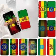 Retro bandeira de etiópia Caso Luxo Telefone Para Vivo Y91c Y17 Y51 Y67 Y55 Y93 Y81S Y19 V17 vivo s5