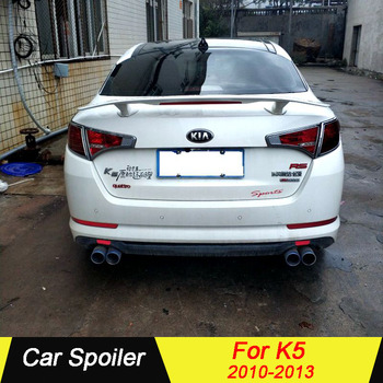 For Kia K5 2010 2011 2012 2013 ABS Material With LED LAMP Unpainted Primer Color Car Tail Wing Decoration Rear trunk Spoiler