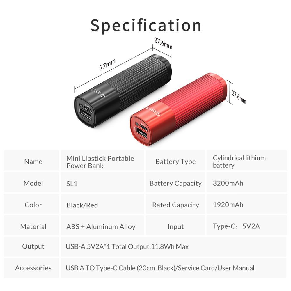 Image 5 - ORICO Mini mujer Powerbank 3200mah carga rápida 5V 2A cargador de teléfono para iphone 8 8S XS MAX Xiaomi 9-in Cargador portátil from Teléfonos celulares y telecomunicaciones on AliExpress