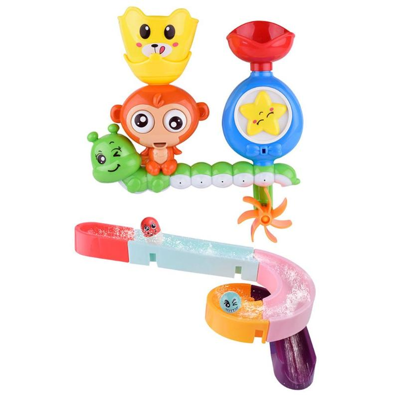 Children Kids Bath Toy Wall Sunction Water Play Sprinkler Educational Game For Children Plastic Funny Game For The Bathroom