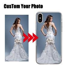 Diy padrão imagens personalizado imagem feita sob encomenda foto silicone caso de telefone para iphone11 pro 5 5S 6s mais se 7 8 x xs max xr