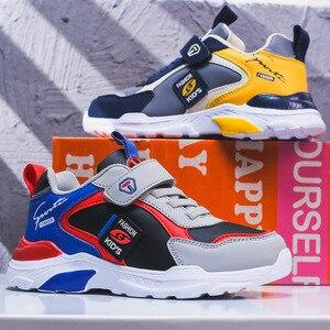 Image 4 - 子供の靴 boys ガールズ 2020 春新スタイルベルクロ スタイル革のファッション子供のスポーツの靴ホット販売スニーカー