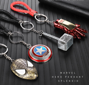 #55 Motorcycle accessories Keychain Captain America Batman Keychain for HONDA CBR 600rr 954 d15 forza 250 300 gold wing gl 1800 image