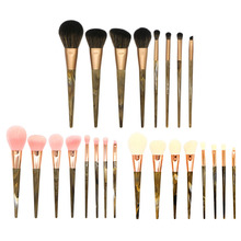 8pcs/set Marble Stripe Resin Handle Goat Hair Professional Makeup Brushes Kits Blush Powder Highlight Repair beauty Brush