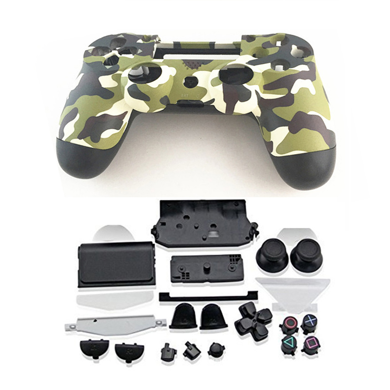Купить с кэшбэком PS4 Full Housing Controller Shell Case Cover Mod Kit buttons For Playstation 4 Dualshock 4 PS 4 V1 Replacement Camouflage Camo