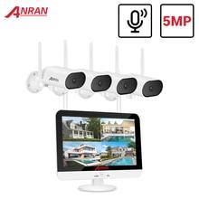 ANRAN PTZ 5MP sistema di telecamere di videosorveglianza 1920P CCTV telecamera esterna impermeabile controllo APP ruota Kit di telecamere a circuito chiuso IR Cut