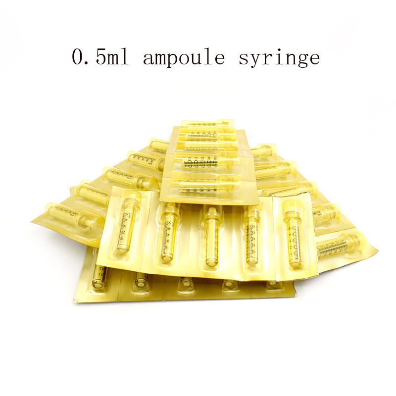 0.5ML Ampoule Head Medicine Syringe Needle For Hyaluronique Pen THESERA Stabilizer Peptide Therapy Atomizer Nozzle And Adapter