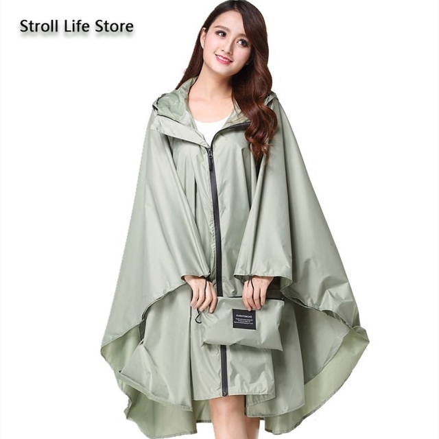Adult Raincoat Women Long Rain Poncho Lightweight Plus Size Rain Coat Waterproof Windbreaker Jacket Gabardina Mujer Gift Ideas 5