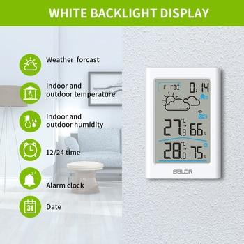 Baldr  Weather Station LCD Thermometer Hygrometer Meter Forecast Sensor Indoor Outdoor Sensor 3
