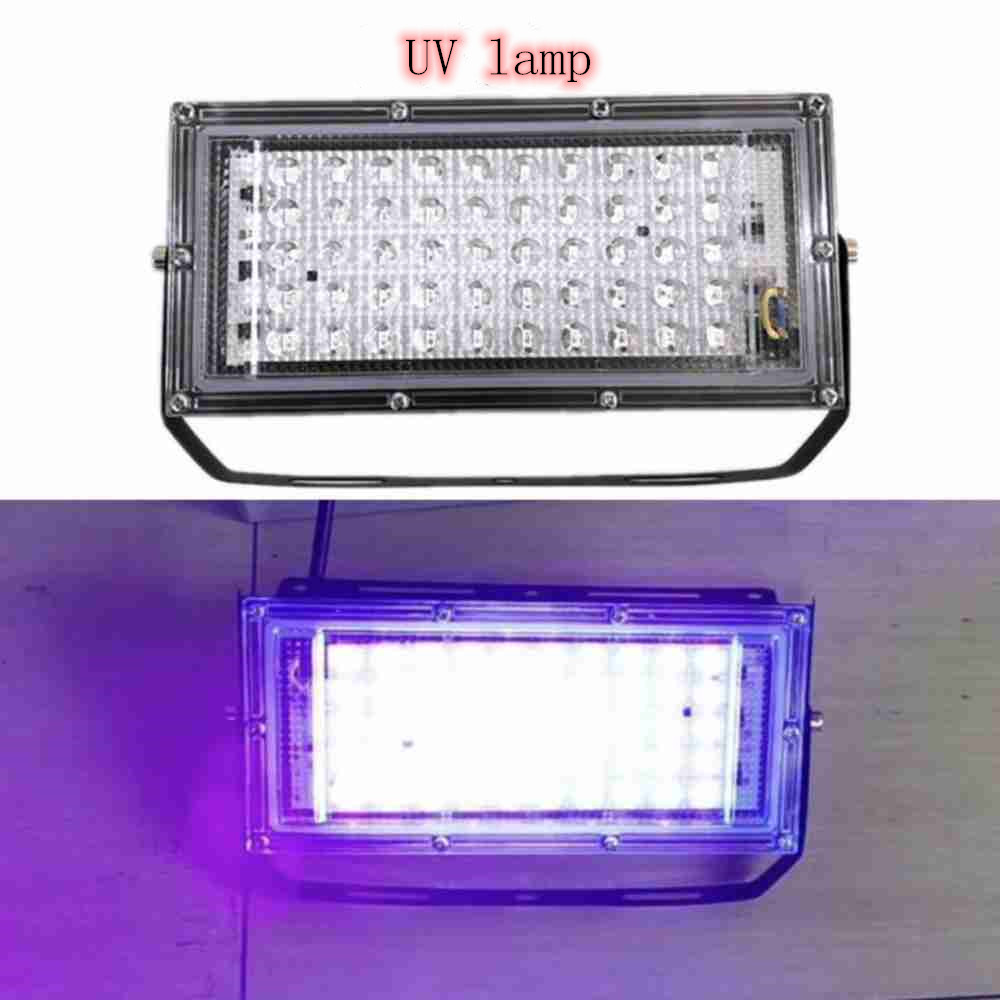50W LED UVC Germicidal Lamp Flood Light 110V 220V Spotlight Floodlight Outdoor Garden Wall Lamp Street Led Reflector Cast Light