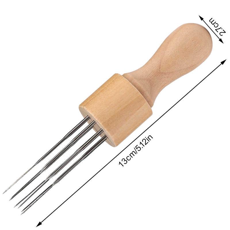 KAOBUY aghi per infeltrimento strumenti in feltro di lana con otto aghi strumento per punzonatura artigianale con manico in legno massello con lettini