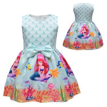 New Summer Surprise Girl Princess Dress Cute Cartoon Unicorn Party Dress Children Clothing 1