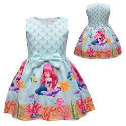 Novo verão surpresa menina princesa vestido bonito dos desenhos animados unicórnio festa vestido crianças roupas