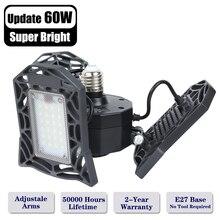 60W LED Garage Lights E26/E27 Deformable Garage Lighting Shop Light for Warehouse Workshop Basement Barn(NO Motion Activated # цена