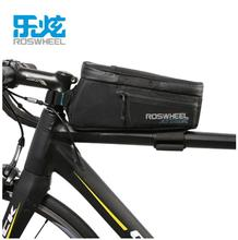 цена на ROSWHEEL Waterproof Bike Bicycle Bags Front Beam Frame Tube Bag MTB Road Foldig Bike Phone Bag Cycling Accessories ATTACK SERIES