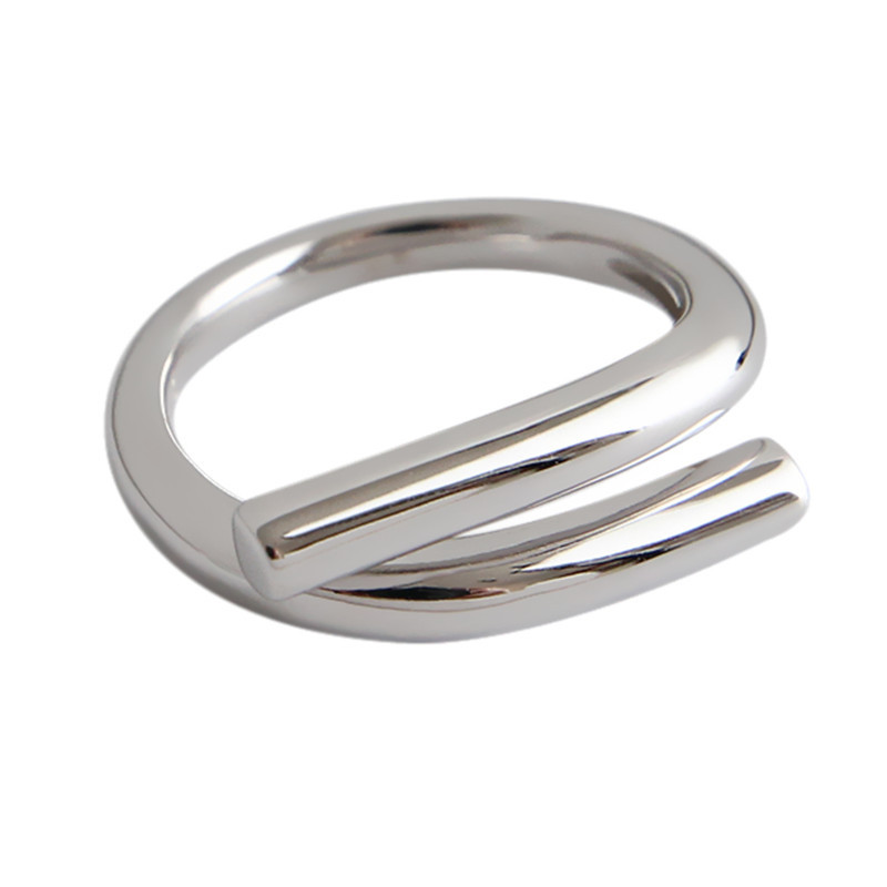Boho Vintage Silver Color  Irregular Chains Rings for Women Lover Finger Ring Valentines Day Gifts 2