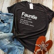 Футболка забавная графическая футболка тетя lover размера плюс
