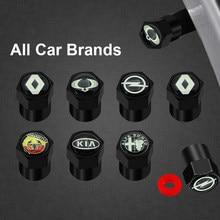 4 peças de metal carro roda pneu válvula hastes tampas decoração para mini coopers clubman r55 r56 countryman r60 paceman r61 r50 r53 r57