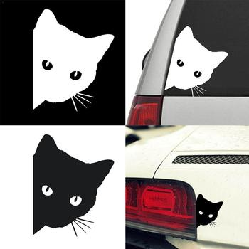 Cat Face Peering Car Sticker Decals Pet Cat Motorcycle Car Sticker Stickers For Audi Decorative Window Decals Car 14*11CM Y9M2 image