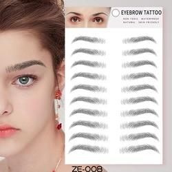 Eyes Tattoo Cosmetic False Eyebrows 4D Hair-like Eyebrow Tattoo Sticker Waterproof Lasting Makeup Face Temporary Tattoo Stickers