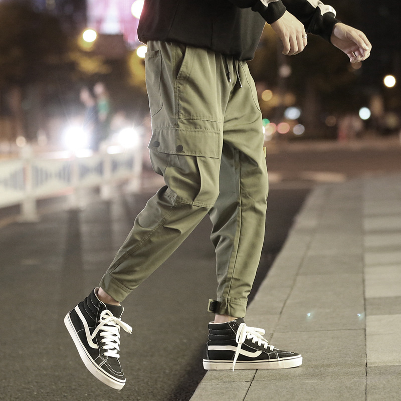 2019 Autumn Clothing Workwear Casual Pants Night View Velcro Ankle Banded Pants Loose-Fit Trousers
