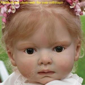 NPK 70 centimetri 28 pollici In Silicone Rinato Kit Bambola del bambino bebe Reborn bambino stampo FAI DA TE Accessorio non verniciato in bianco parti di bambola