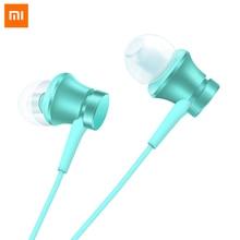цена на Original Xiaomi Piston Earphone Fresh Edition 3.5mm Plug HD microphone Xiaomi Wired colour headset For Xiaomi Android IOS Phone