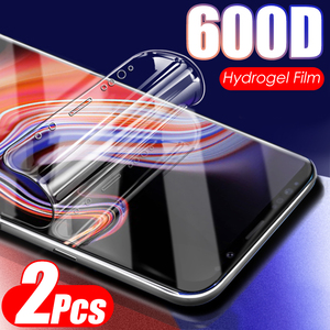600D 2Pcs Soft Hydrogel Film Not Glass On For Samsung Galaxy Note 10 8 9 PLus S8 S9 S10 S10E Screen Protector Protective Film(China)