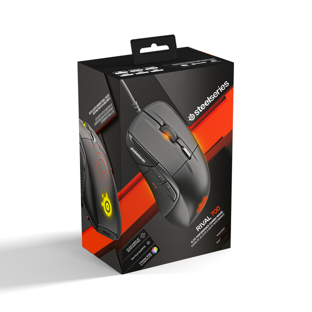 All New SteelSeries Rival 500/700 Gaming Mouse FPS RTS MMO LOL WOW Gamer  Mice USB Wired 6500 DPI Optical Mouse Black Edition 6