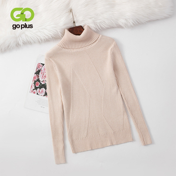 GOPLUS Autumn And Winter Sweater Pullover Women's Long-sleeved Casual Warm Turtleneck Sweater Women's Knitted Slim Top Fashion sweater women autumn and cardigan women winter v neck knitted long sleeved slim fitting tight warm shirt pullover turtleneck
