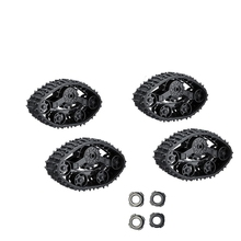 цена на New 4Pcs Upgrade Track Wheels Spare Parts for 1/16 WPL B14 C24 Truck RC Car Accessories Upgrade Spare Parts RC Car Parts