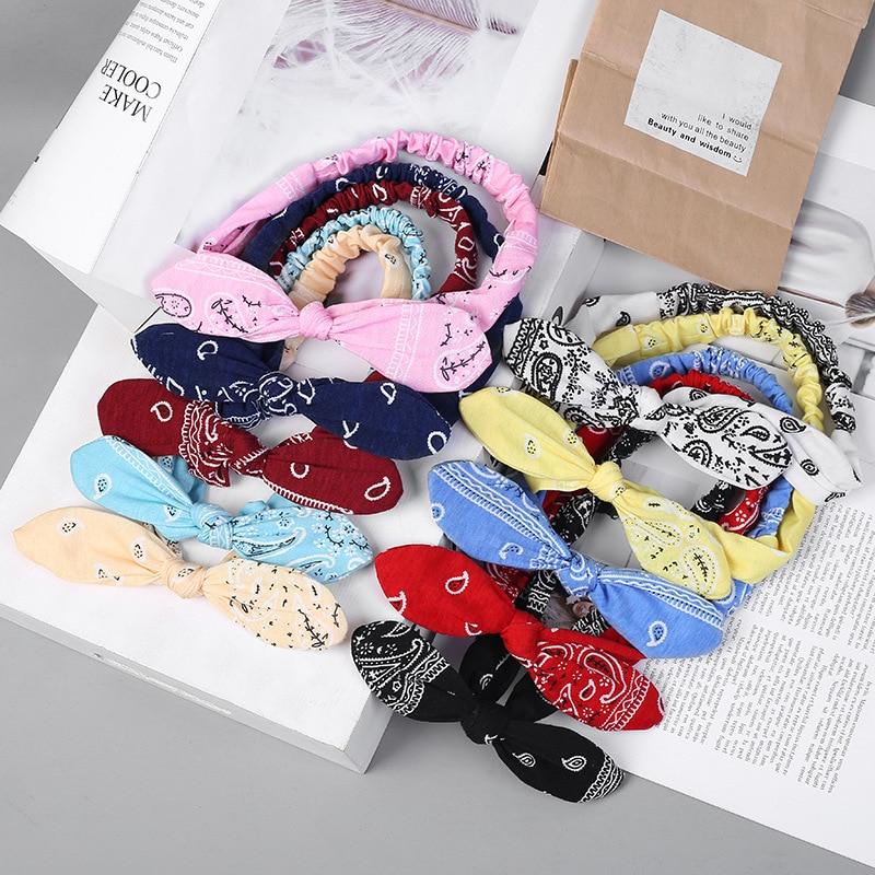 New Women Suede Soft Solid Print Headbands Vintage Cross Knot Elastic Hairbands Bandanas Girls Hair Bands Hair Accessories