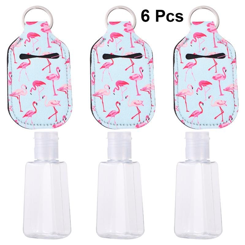 3 Set 30ml Empty Bottle and Keychain Holder Portable Refillable Hand Sanitizer Bottles and Keychain for Soap Lotion and Liquids