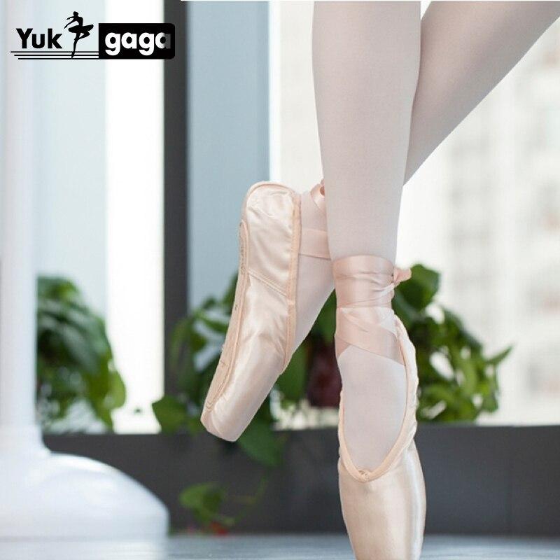 Yukigaga Sales Satin Ballet Pointe Shoes Professional Girls Ladies Ballerina Dance Shoes With Ribbons