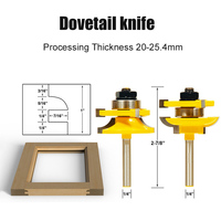 3Pcs/set 1/4 Milling Cutter Tools Shank Bit Raised Panel Cabinet Door Router Bit Sets Rounded Corner Knives Engraving AL