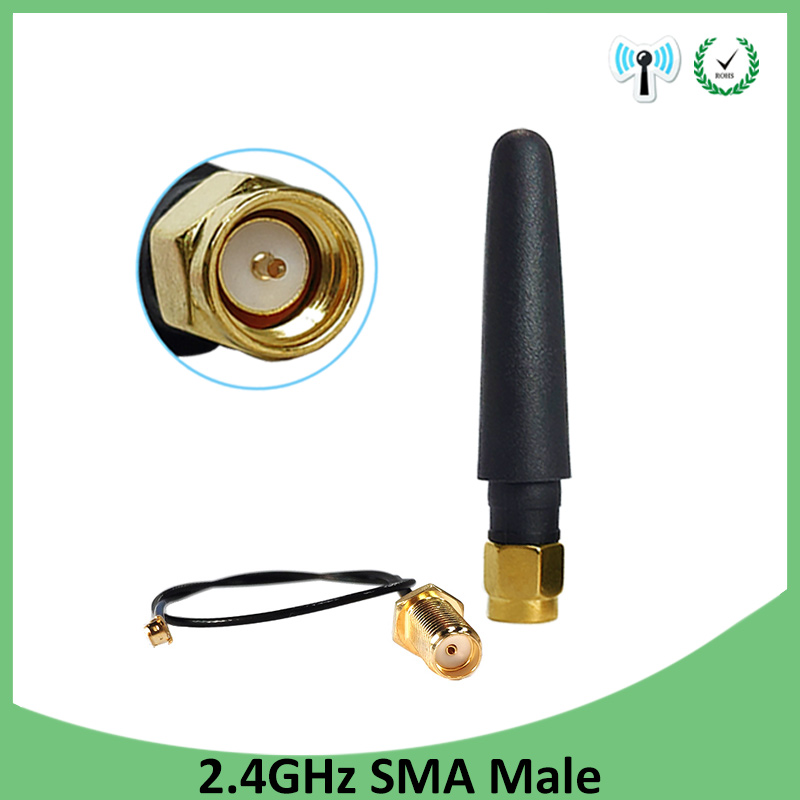 2.4 GHz Antenna Wifi 5dBi SMA Male Connector 2.4ghz Antena For Router Wi Fi Booster +21cm RP-SMA To Ufl./ IPX 1.13 Pigtail Cable