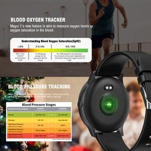 Image 2 - KOSPET ماجيك النساء ساعة ذكية الرجال رصد معدل ضربات القلب الدم الأكسجين اللياقة البدنية المقتفي KW19 Smartwatch للهاتف IOS أندرويد شاومي
