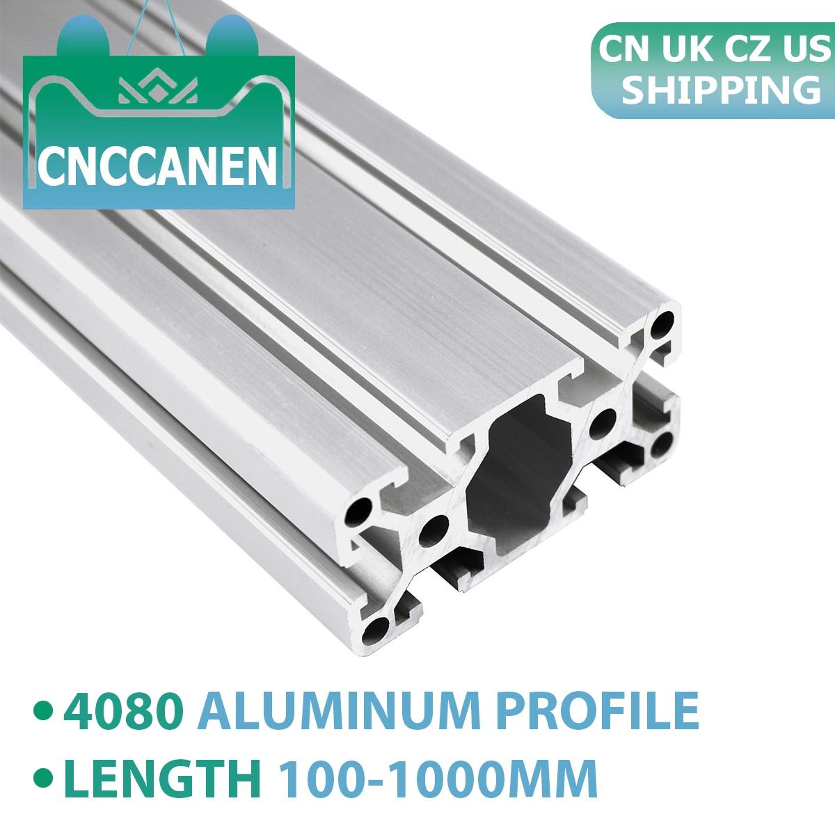 4080 Aluminum Profile Extrusion European Standard Anodized Linear Rail Aluminum Extrusion 4080 Profile For CNC 3D Printer Parts