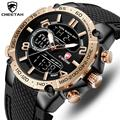 Топ люксовый бренд CHEETAH мужские часы модные спортивные наручные Цифровые кварцевые аналоговые часы водонепроницаемые мужские часы Relogio ...