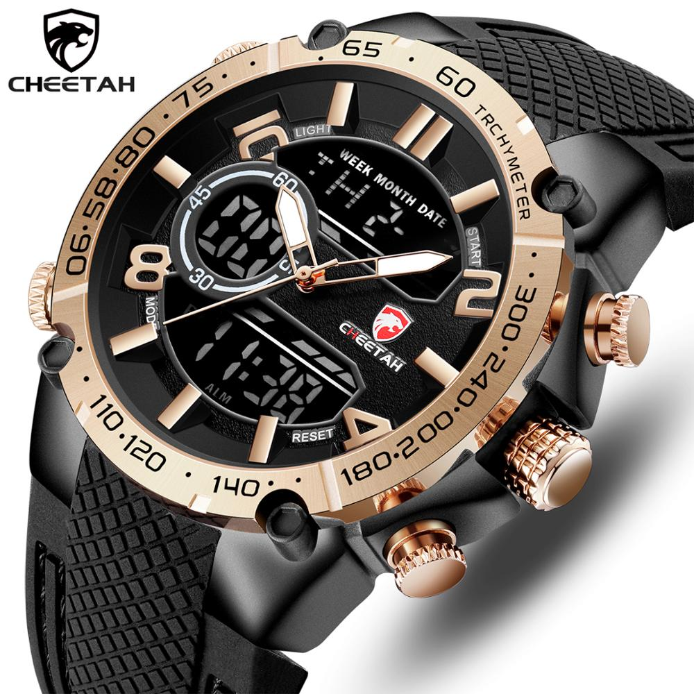 Top Luxury Brand CHEETAH Men Watch Fashion Sports Wristwatch Digital Quartz Analog Clock Waterproof Watch Men Relogio Masculino